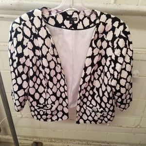 East 5th XL Black White Open Front Lined Cardigan
